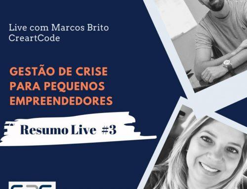 """Resumo Live #3 """"Projeto S2G Convida"""": Gerenciamento de Crise para Pequenos Empreendedores"""